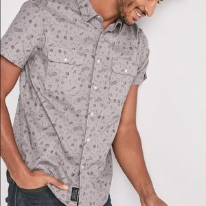 Lucky brand mason workwear printed shirt